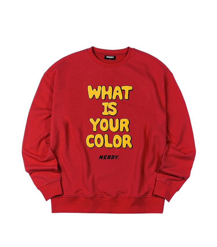 相葉雅紀 VS嵐 11/19 衣装 NERDY ノルディ スローガン グラフィック スウェットシャツ レッド / Slogan Graphic Sweatshirt Red スウェット