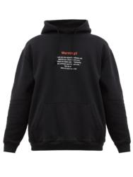 中村海人  Travis Japan RIDE ON TIME 私服 トラジャ VETEMENTS Warning-print jersey hooded sweatshirt スウェット パーカー Warning
