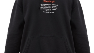 中村海人  Travis Japan RIDE ON TIME 私服 トラジャ VETEMENTS Warning-print jersey hooded sweatshirt スウェット パーカー Warning