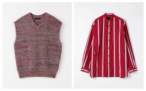 二宮和也 ニノさん 1/17 衣装 ベスト シャツ CABaN コットン マルチストライプ ビッグシャツ