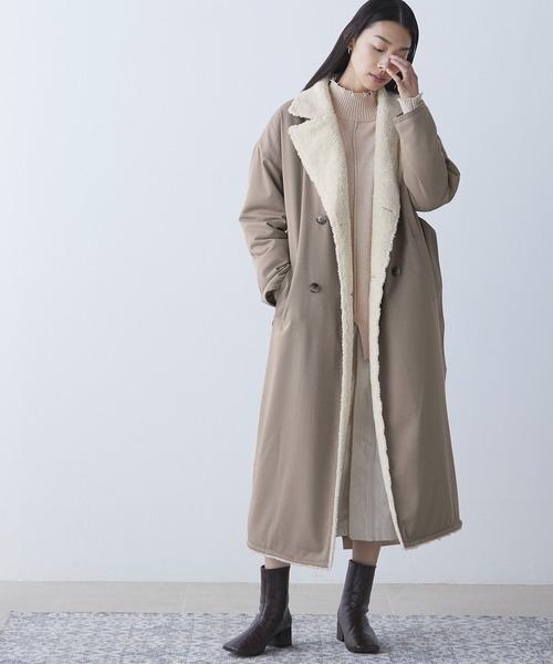 道枝駿佑 なにわ男子 衣装 Myojo EMMA CLOTHES リバーシブル ボア キルティング ロングコート
