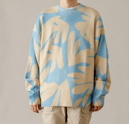 玉森裕太 ボス恋 衣装 5話 2021/2/9 Saturdays NYC Tahiti Palms Mixed Stitch Sweater ニット セーター