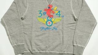 """知念侑李 中島裕翔 Hey!Say!JUMP 衣装 duet 2021年3月号 Buzz Rickson's(日本製)""""348th FIGHTER SQ.""""プリントセットインスリーブクルーネックスウェットSET-IN CREW SWEAT"""