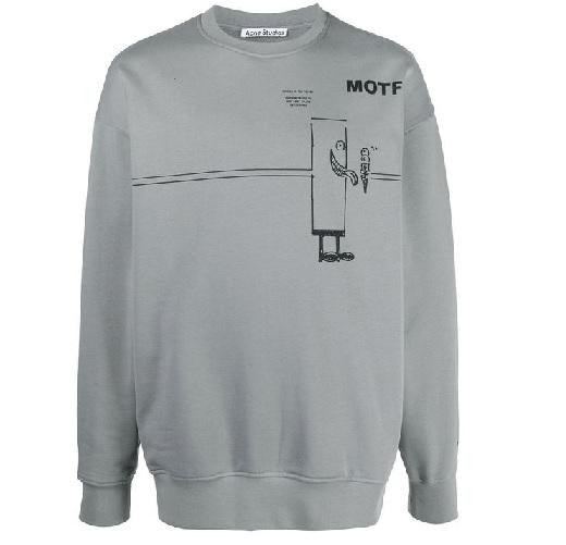 大橋和也 なにわ男子 衣装 私服 Acne Studios MOTF スウェットシャツ