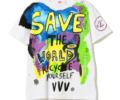 有岡大貴 ヒルナンデス 衣装 Tシャツ 4/13 International Gallery BEAMS Veni Vedi Vici / SAVE ハンドペイントTシャツ
