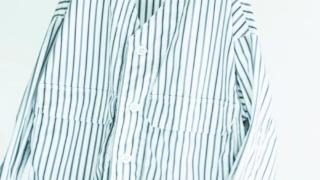 二宮和也 ニノさん 衣装 4/18 TOMORROWLAND MEN コットングログランストライプ Vネックシャツブルゾン