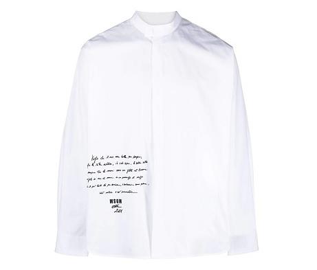 目黒蓮 それスノ 衣装 MSGM スローガンシャツ Snow Man それSnow Man2やらせて下さい