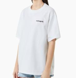 中村嶺亜 7MEN侍 私服 ジャニーズJrチャンネル mahagrid (マハグリッド) RAINBOW REFLECTIVE LOGO TEE [WHITE] Tシャツ ナンジャモンジャ