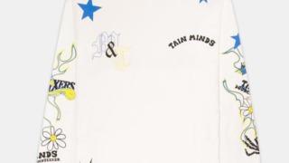 有岡大貴 ヒルナンデス 衣装 5/11 TAIN DOUBLE PUSH FRIENDSHIP LONG SLEEVE WHITE