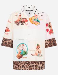 中村海人 私服 Travis Japan トラジャ DOLCE&GABBANA オープンカラーシャツ