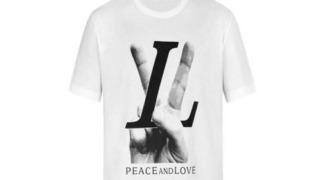 髙橋優斗 私服 Tシャツ  LOUIS VUITTON ルイ ヴィトン PEACE AND LOVE Tシャツ