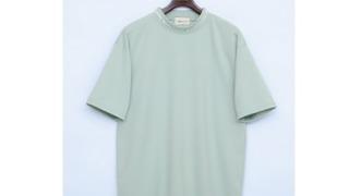 大橋和也 なにわ男子 衣装 コークチャレンジ 甲子園 高校野球 オーバーサイズポンチローマモックネックカットソー 1/2 sleeve (EMMA CLOTHES
