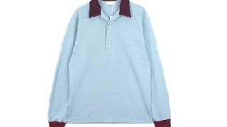 平野紫耀 衣装 bis 雑誌 LITTLEBIG OPEN COLLARED L/S POLO SH BLUE