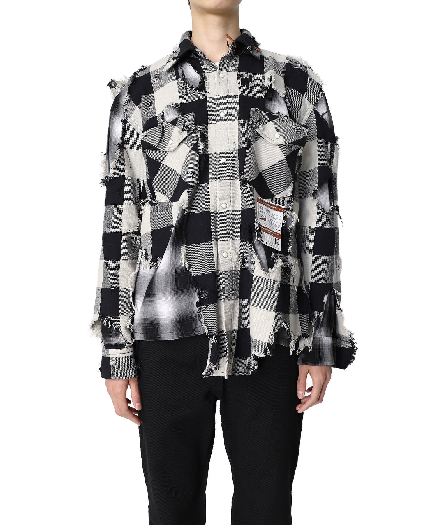 藤ヶ谷太輔 A-studio 衣装 Aスタ Aスタプラス 2021/9/3 Broken Layered Check Shirt Maison MIHARA YASUHIRO チェックシャツ