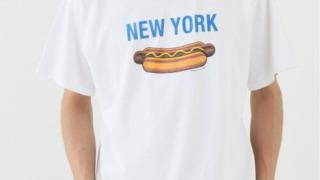 有岡大貴 ヒルナンデス 衣装 New York Hotdog T-Shirt White Tシャツ
