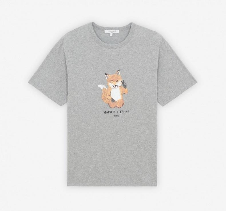 有岡大貴 ヒルナンデス 衣装 9/28 HeySayJUMP Maison Kitsune ALL RIGHT FOX PRINT CLASSIC TEE-SHIRT